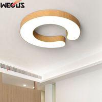 Houtnerf Creative Plafond Lamp  Slaapkamer/Eetkamer/Studie Plafondlamp-in Plafondverlichting van Licht & verlichting op