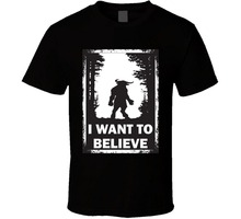Phiking Print T Shirt Men I Want To Believe X Files Parody Minotaur Funny Poster