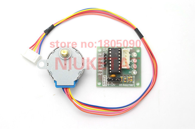2017 New 5V Stepper Motor 28BYJ-48 With Drive Test Module Board ULN2003 5 Line 4 Phase free shipping
