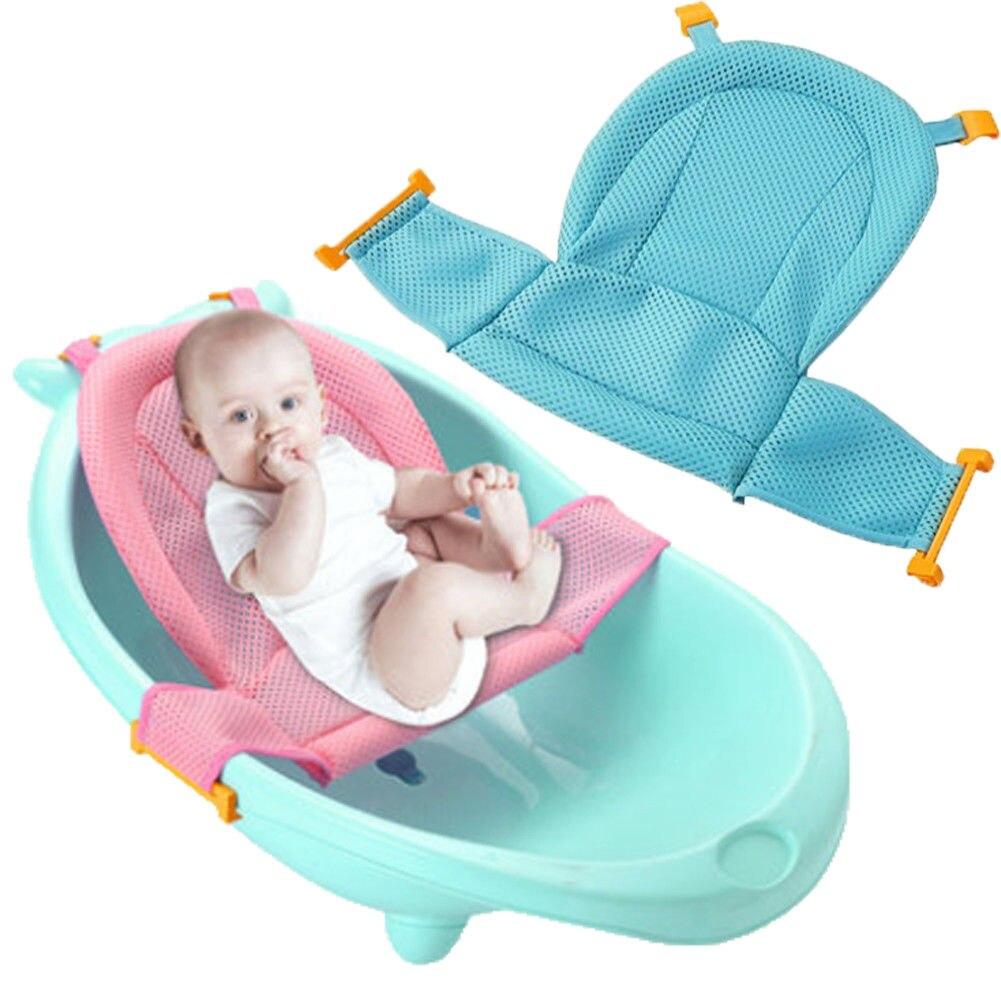 Adjustable Baby Bath Seat Support Net Bathtub Sling Shower