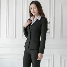 Women's suit 2018 autumn and winter professional  Office ladies suits OL suit OL business white collar suit  free shipping