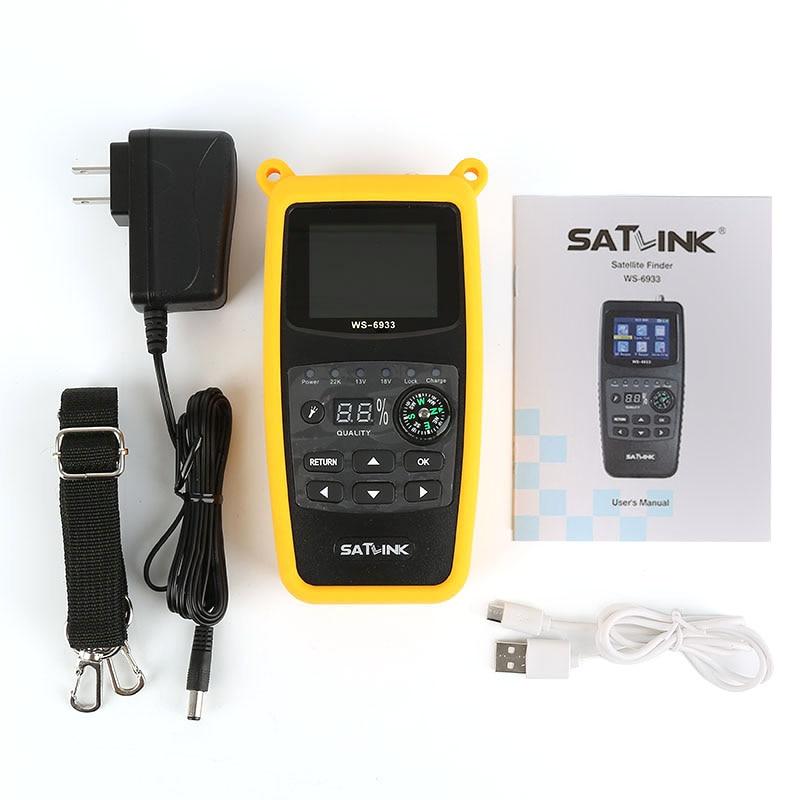 Satlink WS-6933 Satfinder Satellite Finder Satlink 6933 2.1 Inch LCD Display DVB-S FTA C&KU BandMeter SatLink 6933