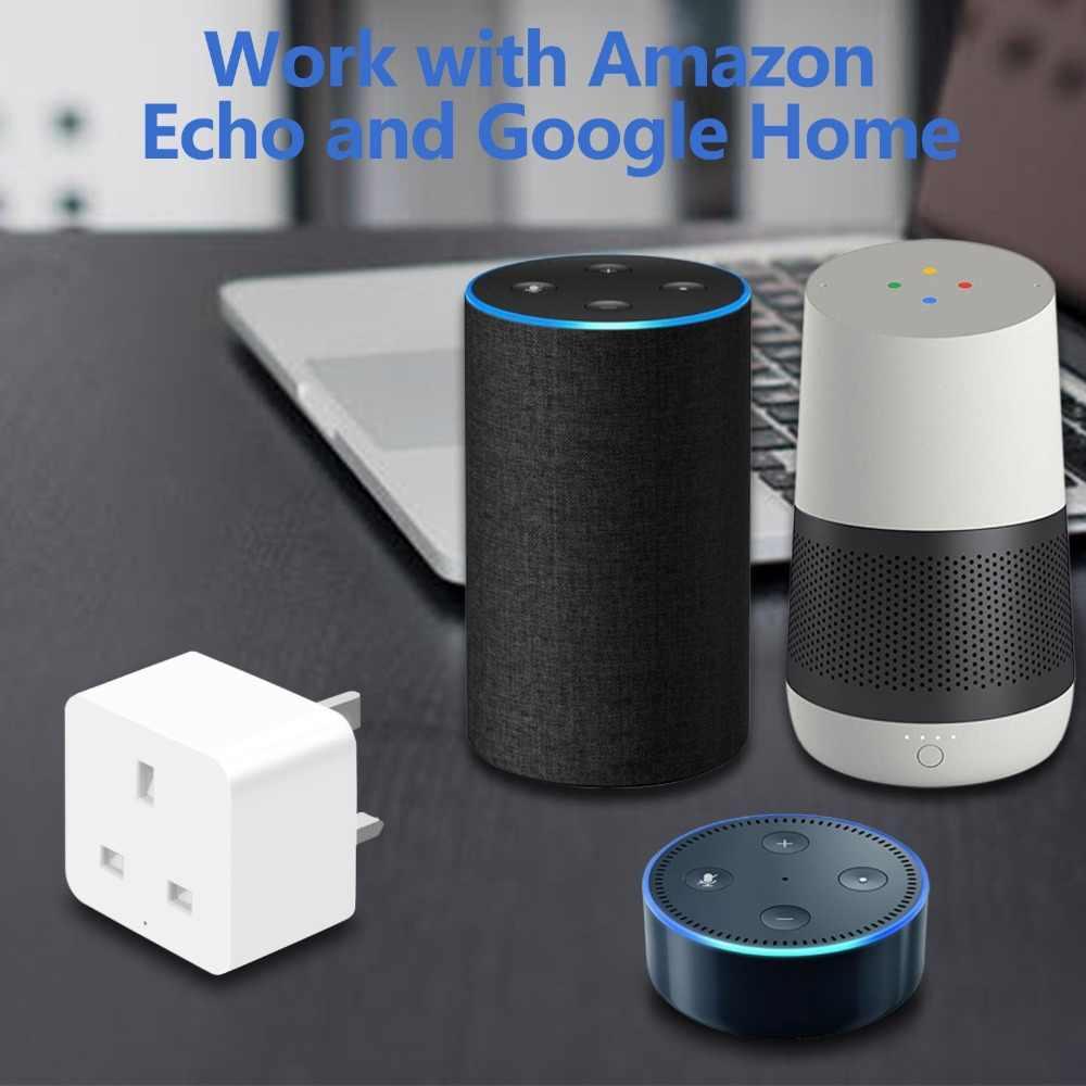 Inteligentny wielkiej brytanii wtyczka WiFi sterowania gniazdo wyłącznik czasowy outlet 16A moc monitorowanie zużycia energii sterowanie głosem pracy z Alexa i Google IFTTT
