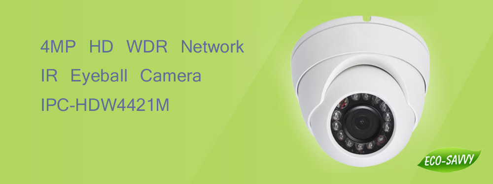 Free Shipping DAHUA Security IP Camera 4MP WDR Network IR Eyeball Camera Waterproof IP67 With POE without Logo IPC-HDW4421M dahua 2 7mm 12mm motorized lens 2mp wdr ir eyeball network camera ipc hdw5231r z free dhl shipping