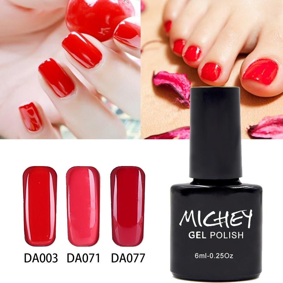 Charming Red Pure Color Gel Soak Off French UV Gel Varnish Professional vernis semi permanent Glaze For Summer Decoration