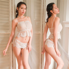 Women Porno Babydoll Sexy Lingerie Hot Erotic Lace Costumes Underwear Dress