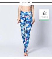 Großhandel heiße neue frauen sexy universum galaxy blue gedruckt leggings hosen elastizität fashion weltraum tie dye milch silk s-xl