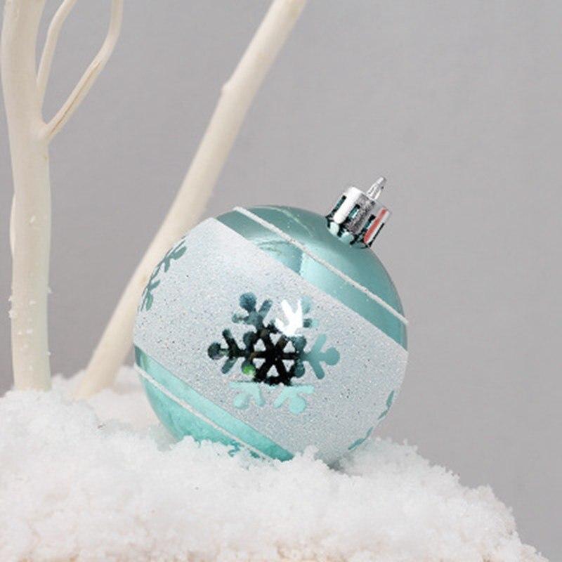 24 pçs/lote 60mm Decoração Bola Bola de Natal Do Partido Da Árvore de Natal Ornamento De Suspensão Bola decorações de Natal Presente de decoração para Casa
