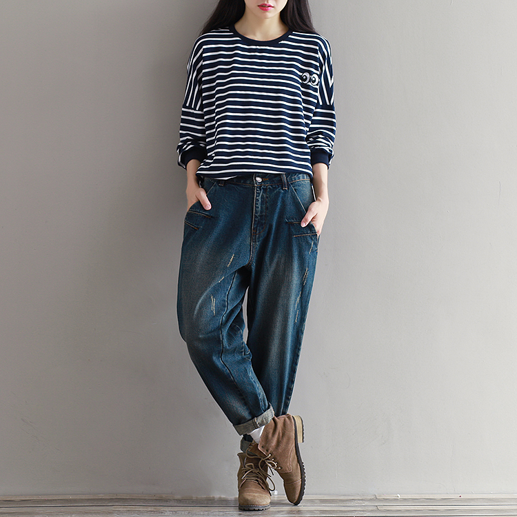 17 Winter Big Size Jeans Women Harem Pants Casual Trousers Denim Pants Fashion Loose Vaqueros Vintage Harem Boyfriend Jeans 9