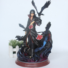 Anime Naruto Shippuden Itachi pcv figurka GK Uchiha Itachi z wroną zabawka model do kolekcjonowania 28cm