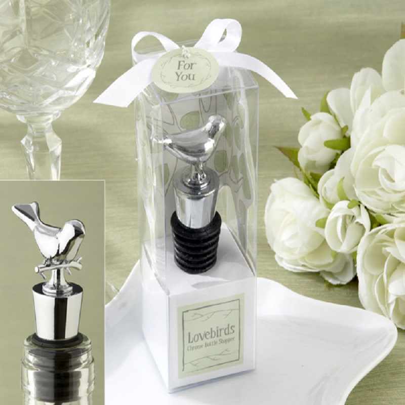 Home Party Creative Favors Gift Supply Love Bird Wine Bottle Stopper