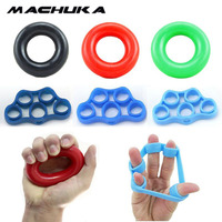 MACHUKA 7pcs Lot Muscle Power Training Silicone Grip Ring Exerciser Strength Finger Hands Grip Fitness Workout