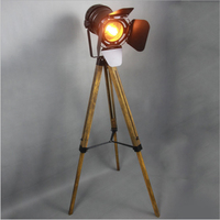 personality floor lamp tripod remote control room bedroom industrial wind living room American retro vertical Floor lights