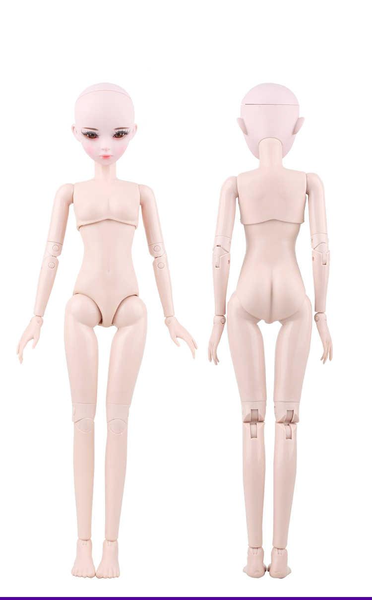 1/3 BJD bebek 56 cm Plastik ortak hareketli bebek Çıplak bebek 20190103, Moda bebek