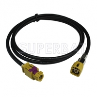 HSD Cable Assembly K Coding Straight Female Jack To K Coding Straight Male Plug Dacar 535