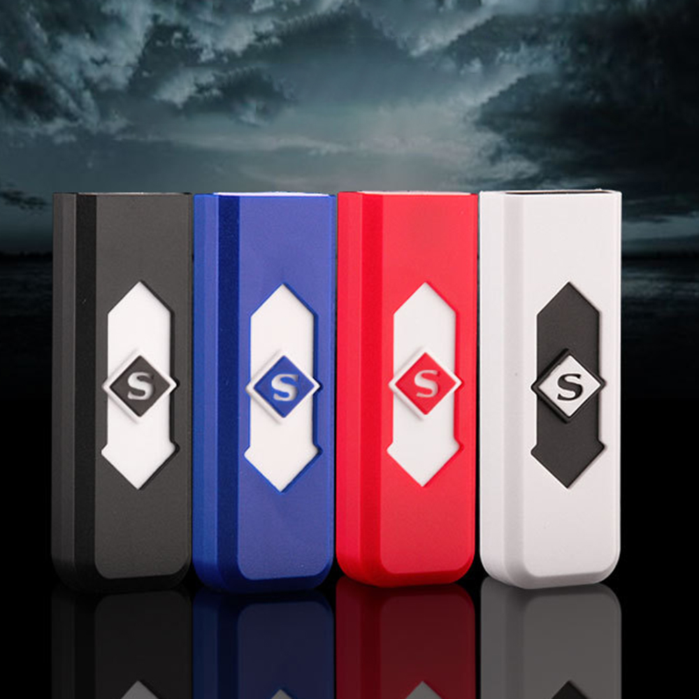 Creative Small Rechargeable USB Windproof Flameless Electric Charging Cigarette Lighter Smokeless Super Lighters Male 060V