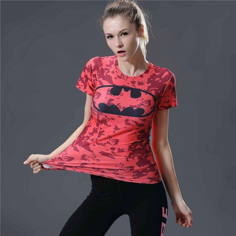 11  T Shirt Women 3d Print Batman Compression Shirt Summer Short Sleeve O-neck Tee Shirt Femme Fitness Tight Tshirt Women Tops