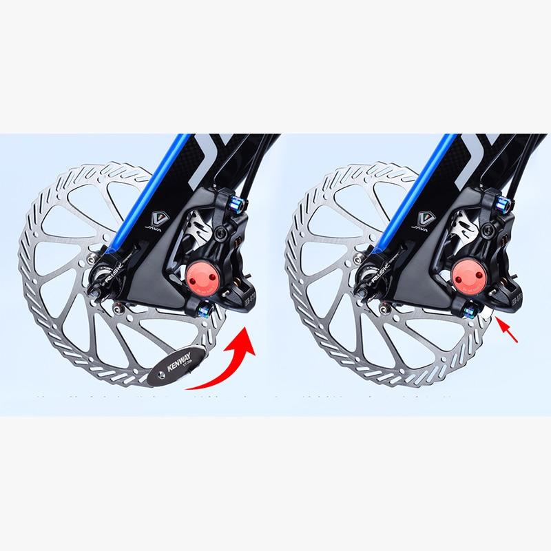 Bicycle disc brake pad adjusting tool mounting brake brake pad alignment to W