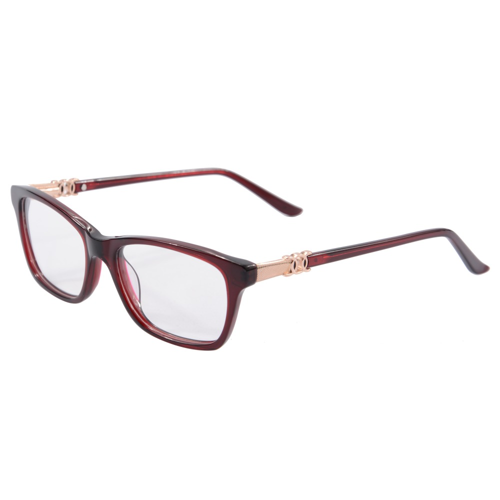 2016 Summer Style eye glasses frames for women metal with acetate ...