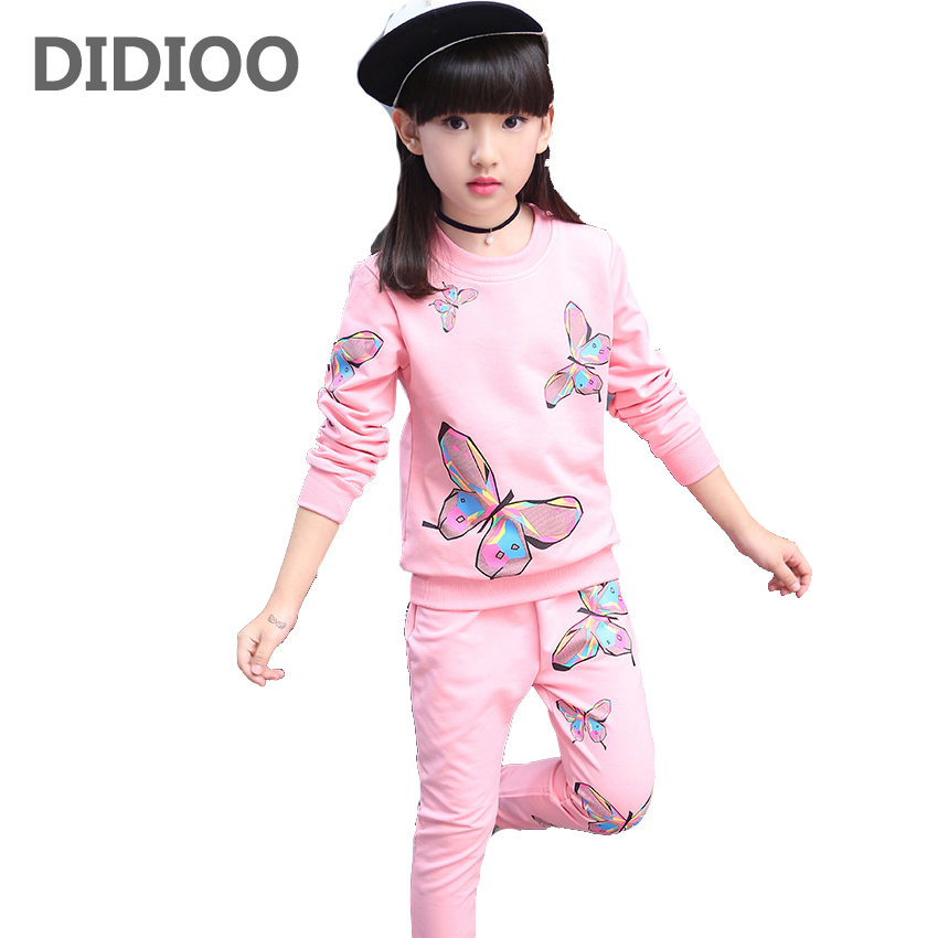 2017 girl clothing new spring & autumn children hoodies & pants twinset kids casual sports suit girls clothing sets & tracksuits 2017 baby girl s sports clothing set spring autumn children s clothes girl casual hoodies long trousers pants