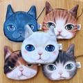 2015 New 3D Print kids women purse Cute Dog&Cat Cartoon Huskie Animal Face Zipper Case Coin Purse Wallet Makeup Buggy Bag Pouch
