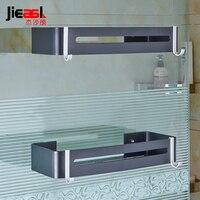 Light Space Aluminum Bathroom Shelves Quartet Toilet Wall Bracket Belt Hook With Hook Design Easy To