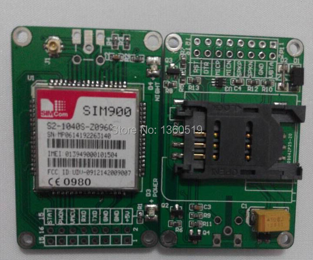 2015 latest SIM900 module expansion board GSM/GPRS shield for Arduino - IComSat v1.1 GSM SMS module ICOMSAT transmission antenna
