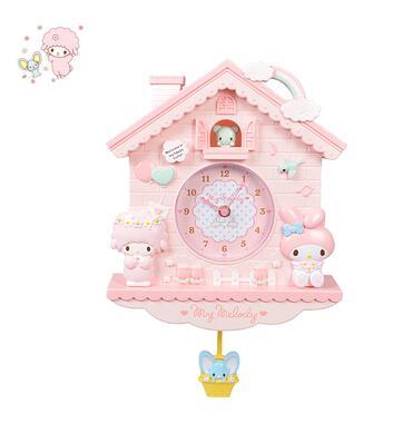 Cartoon My Melody Twin Stars Home Wall Swing House Clock Size 35X26CM