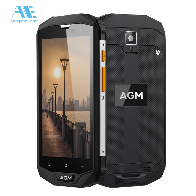 bilder für IP68 Wasserdicht Staubdicht Smartphone AGM A8 Handy Android 7.0 5,0 zoll QuadCore 4G RAM 64G ROM 4G LTE 4050 mAh Mobile telefon