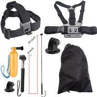 Action Cam Accessories Chest Head Strap Floating Bobber Mount For XiaoYi SJCAM SJ4000 SJ4000wifi SJ7 Star