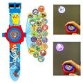 LED digital 24 projector cartoon watch Pokemon Go Pikachu  Snow Queen Princess children wristwatches clock girl gift baby toys