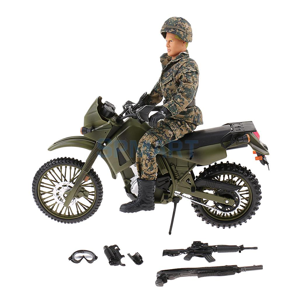 1/6 Scale Assembly Movable Modern Motorcycle Soldiers Model Military Action Figures People Miniature Kit дрель ударная makita hp2051