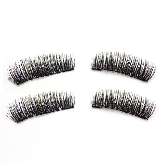 HaHaLash 2pcs magnetic eyelashes 3D 6D type with two or three magnets on Natural curl Hand Made faux mink eyelashes synthetic 2