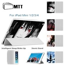 Customied Cover for Apple iPad Mini 4 Retina Tablet Smart Ultra Slim PU Leather Printed Naruto BLEACH Case for iPad mini 1 2 3