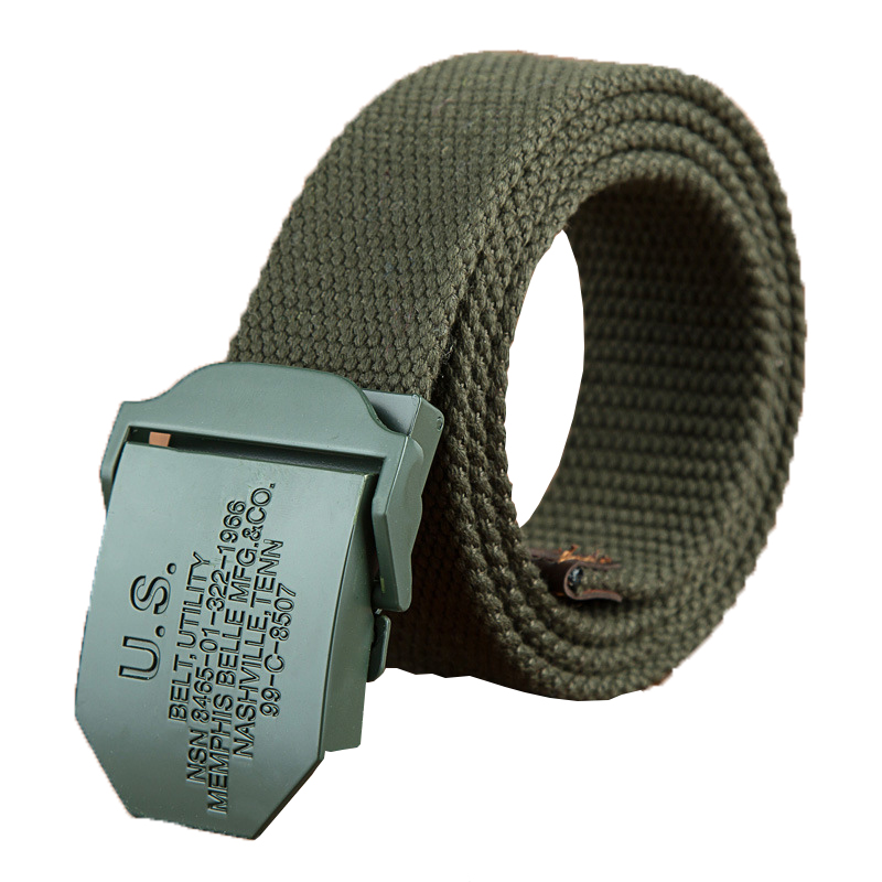 Male Tactical   Belt   2019 Mens Weave Canvas   belt   men Unisex   belts   Knitted Cargo   Belt   Military fans Automatic Buckle-  Belt   110-160cm