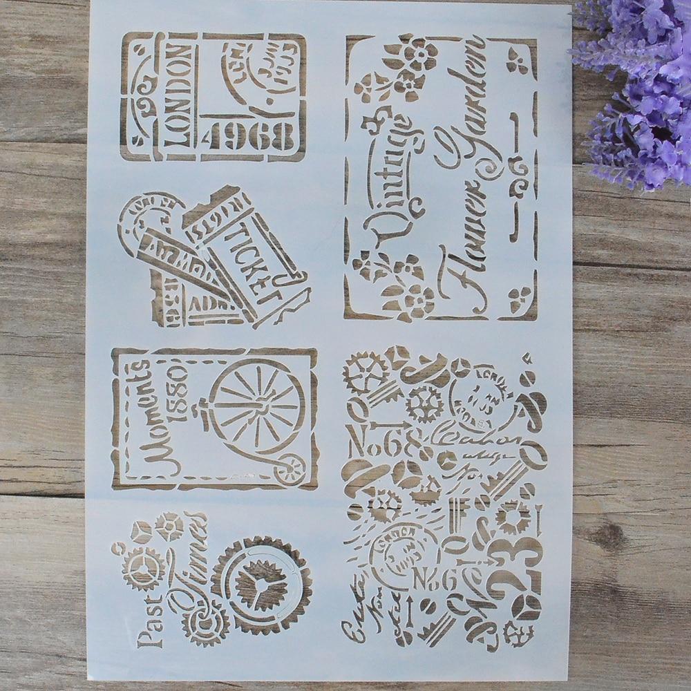 Flor Capas Plantillas Para Paredes Pintura álbum de recortes sello Decorativo SG