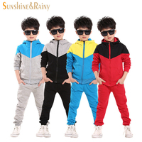 Spring Autumn Kids Tracksuits Boys Baby Boy Hoodied Coats And Jackets Pants Sets Fashion Children Clothing