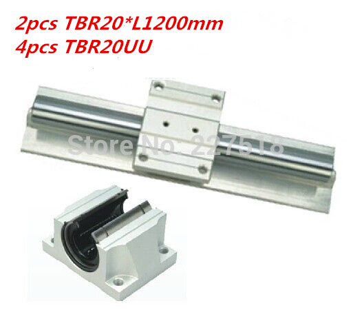 Support Linear rails Assemblies 2pcs TBR20 -1200mm with 4pcs TBR16UU Bearing blocks for CNC Router support linear rails assemblies 2pcs tbr16 1200mm with 4pcs tbr16uu bearing blocks for cnc router