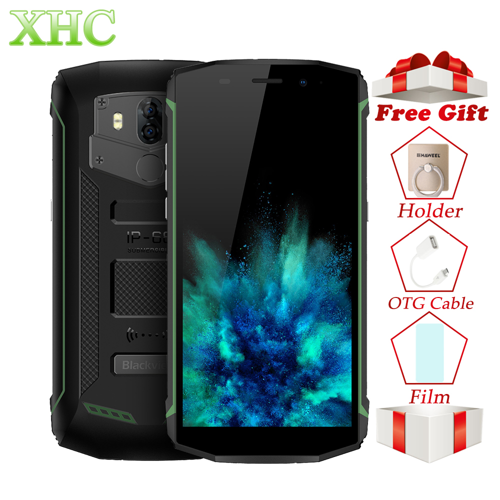4G Blackview BV5800 Pro 5.5 ''2 GB 16 GB Smartphones IP68 Android8.1 Quad Core 13MP NFC OTG sans fil Charge double SIM téléphones mobiles
