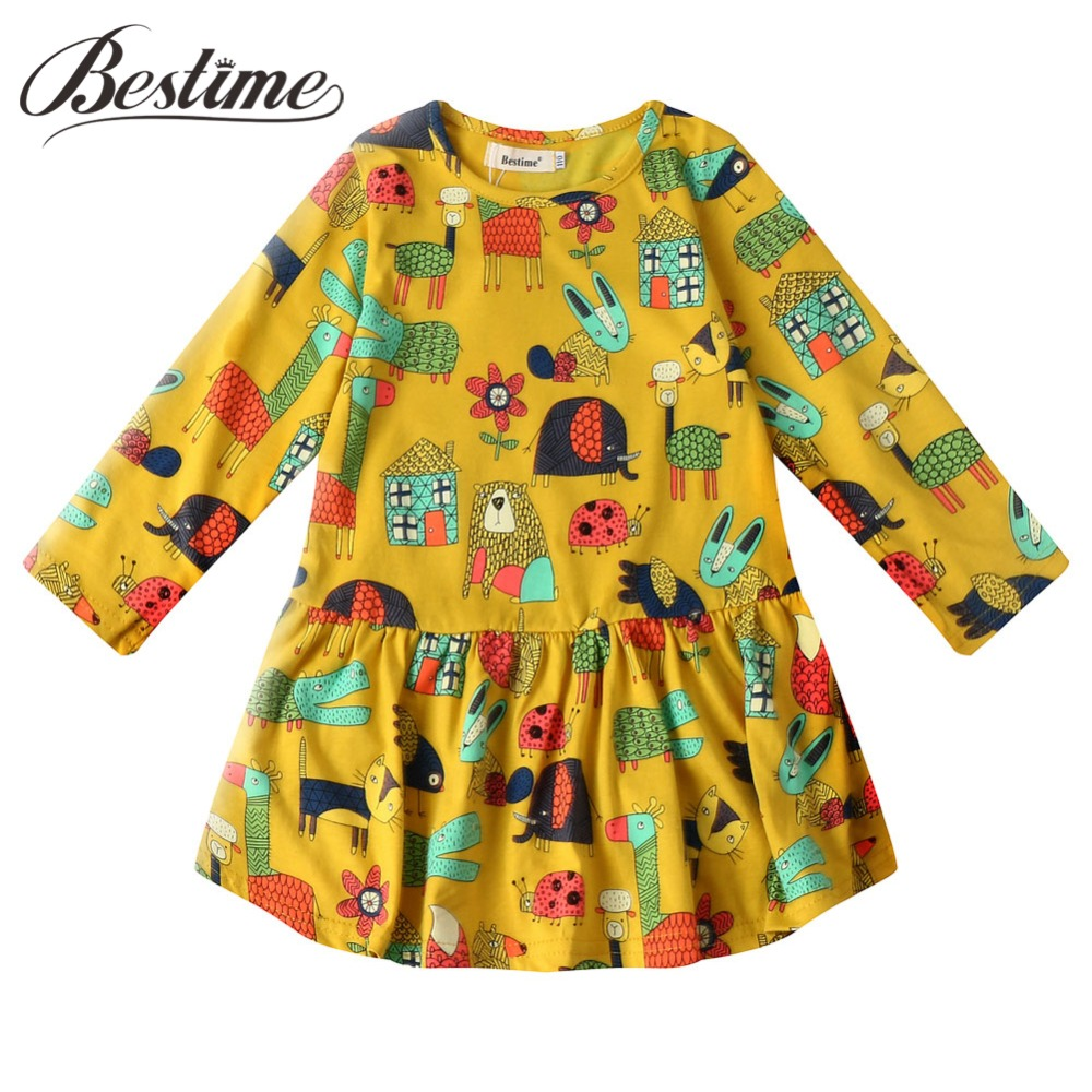 Fashion Kids Dresses for Girls Autumn Winter Girl Dresses Floral Cotton Long Sleeve Children Dress 2018 Kids Clothes new autumn winter kids toddlers girls dresses cotton long sleeve princess dress children girl clothes m2