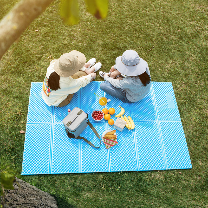 Ultralight Outdoor Camping Mat Foam Mat Foldable Beach Picnic Mat Tent Sleeping Pad Moistureproof Camping Mattress Travel Mat цены