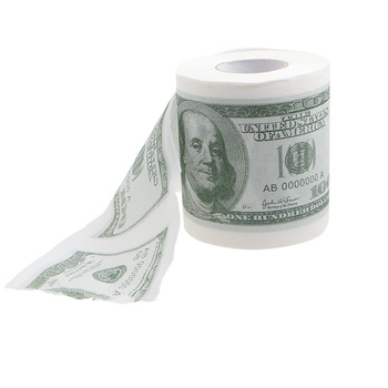1 Roll 2 Ply NEW Novelty Funny 100 Dollar Money Printed WC Bath Funny Toilet Paper Tissue Bathroom Supplies Gift FOR Home 1