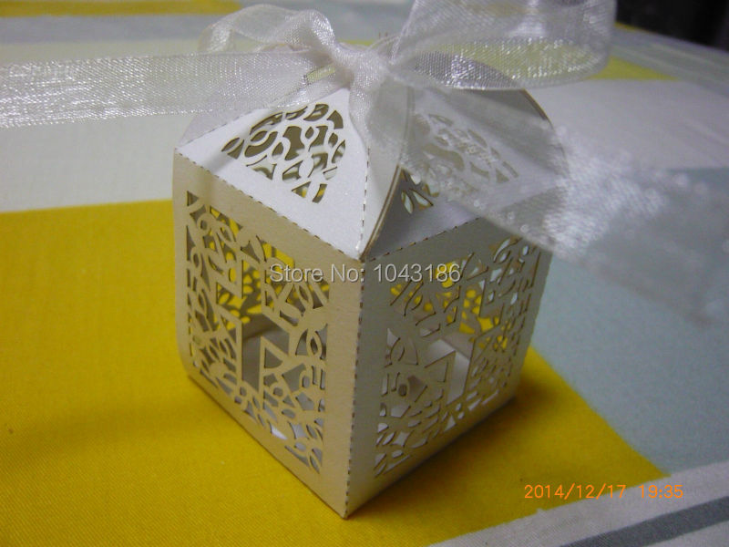 wedding candy favor box jesus christian laser cut wedding box in pearlescent paper sweet