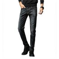 2018 New Business Classic Mens Denim Jeans Summer Dark Blue Cotton Slim Thin High Quality Brand