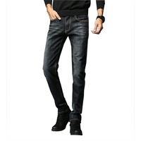 2018 New Business Classic Mens Denim Jeans Summer Dark Blue Cotton Slim Thin High Quality Brand