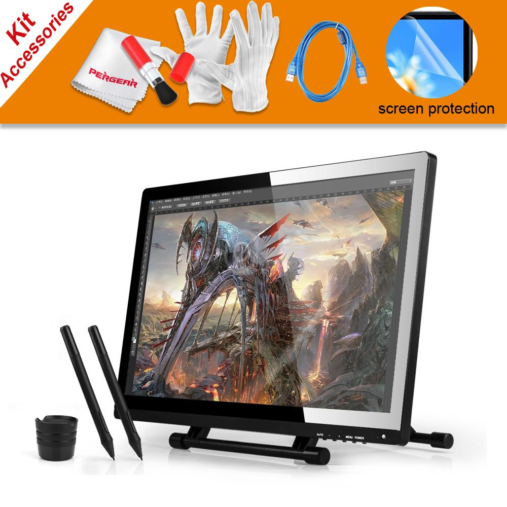 2 Pens UGEE UG-2150 UG2150 Graphic Drawing Tablet 21.5 IPS Monitor + USB Dada Cable + Scree Protector For Ugee and Huion GT-220 huion p608n usb 26 function keys graphic tablet black