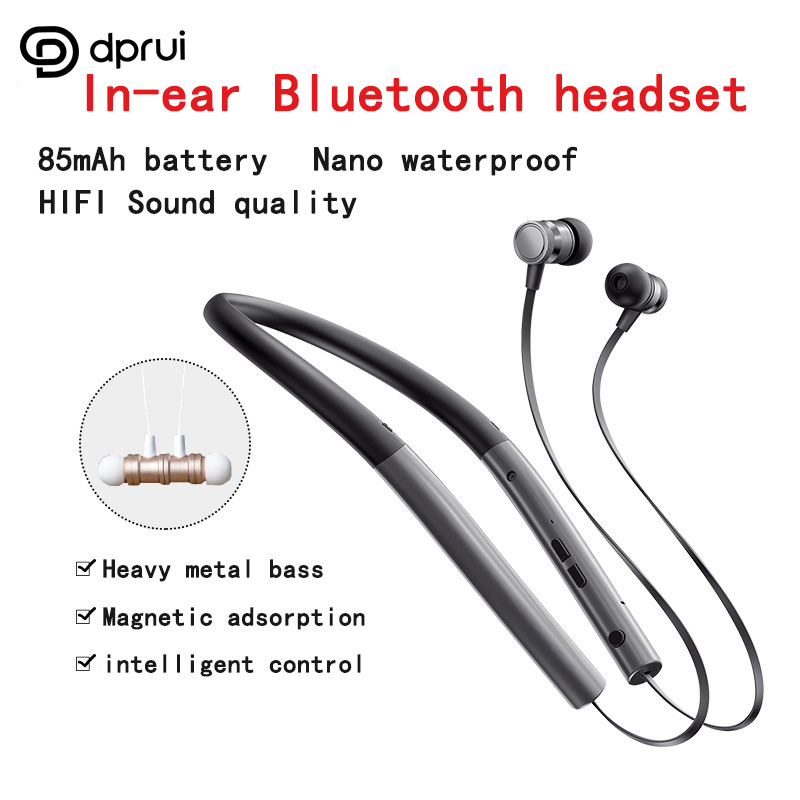 Dprui 2018 sports bluetooth headset wireless headphone Magnetic Adsorption Earphones Bluetooth with mic for iphone 8 earphone factory price binmer 1pc sports wireless bluetooth headset earphone headphone for samsung jy27 drop shipping