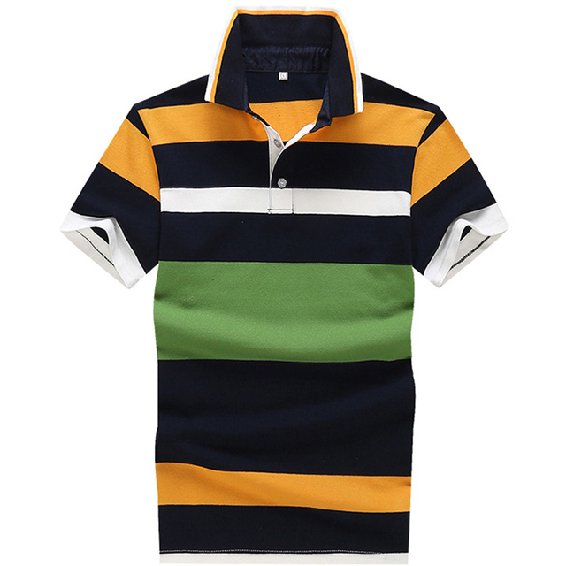Brand New Polo Hombre Shirt Men Fashion Slim Fit Striped shirts Short  Sleeve Casual Camisetas Masculinas 82e1bd10c96