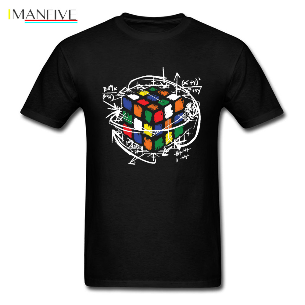 Men 39 s Tshirts Rainbow Rubik Cube Math The Big Bang Theory Graphic T Shirt Sheldon Cooper Program Value Design Cotton Tshirt in T Shirts from Men 39 s Clothing