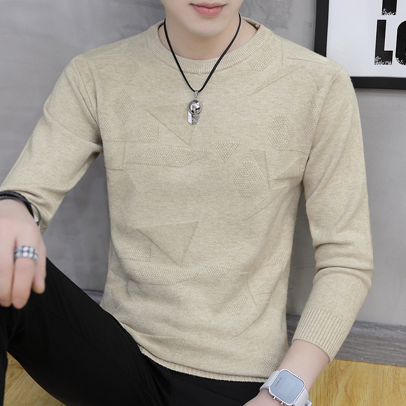 New Spring  And Autumn Casual Men's Fashion Sweater O-Neck Slim Fit Knittwear  Youth Sweaters Pullovers Bottoming Shirt